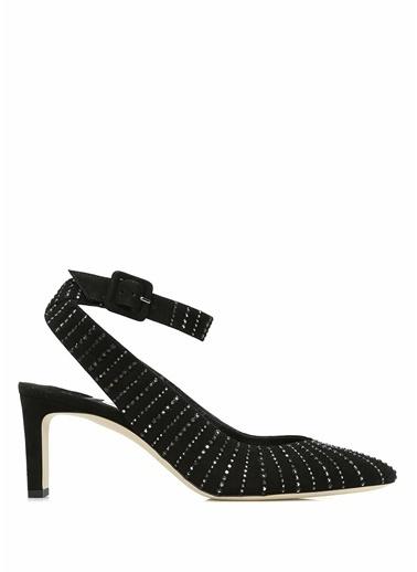 Jimmy Choo Sivri Burun %100 Deri Ayakkabı Siyah
